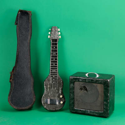 Magnatone Lap Steel and Amp Set 1952 Grey Pearloid for sale