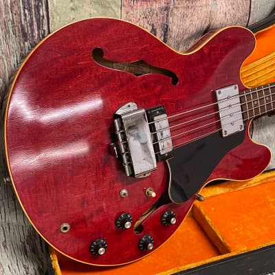 Vintage Original Gibson  EB 2D 1968 Cherry, All original instrument with tags for sale