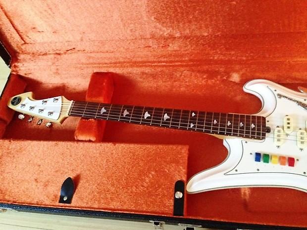 pearl white teisco spectrum five guitar 1990s japan reissue 5 reverb. Black Bedroom Furniture Sets. Home Design Ideas