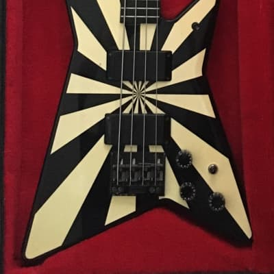 1980s Washburn Rudy Sarzo Signature Model Electric Bass Guitar Set Neck w/ OHSC for sale