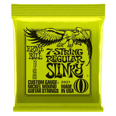 Ernie Ball 2621 Regular Slinky 7-String Electric String Set, 10-56