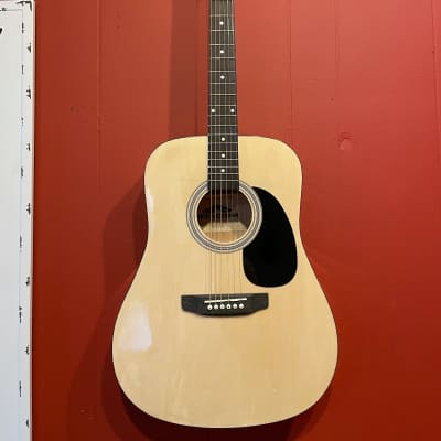 Stadium  Dreadnought D-42 Natural Finish Full-Sized Acoustic Guitar Spruce Top for sale