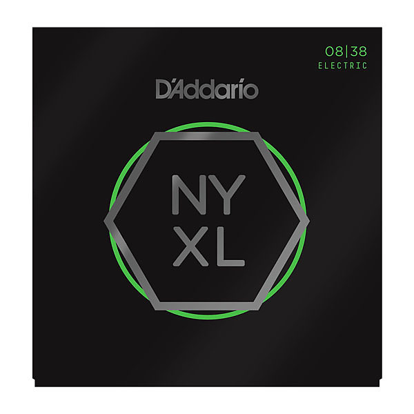 D Addario Nyxl0838 Nickel Wound Extra Super Light 008 038 Electric Guitar Strings Nyxl 0838