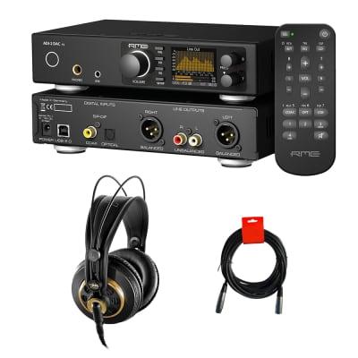 RME ADI-2 DAC FS PCM/DSD 768 kHz Signal Converter with AKG K240 Studio Pro Headphones & XLR Cable Bundle