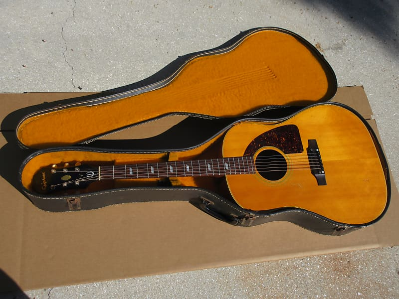 vintage 1960s epiphone texan ft 79 acoustic guitar with gold reverb. Black Bedroom Furniture Sets. Home Design Ideas