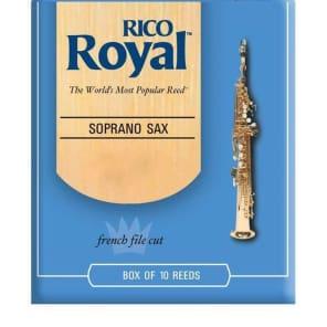 Rico RIB1025 Royal Soprano Saxophone Reeds - Strength 2.5 (10-Pack)