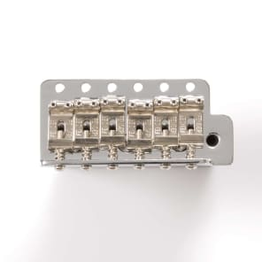Genuine Fender MIM Classic/Highway-1 Strat® Bridge Assembly, 2-3/16 6-pt 005-4619-000