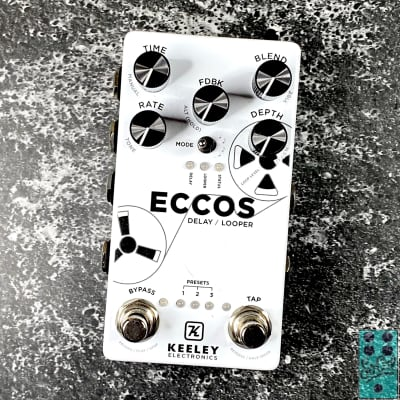 """Keeley ECCOS Neo-Vintage Tape Delay Limited """"Day One"""" Edition Serial #24 w/Original Wood Box!"""