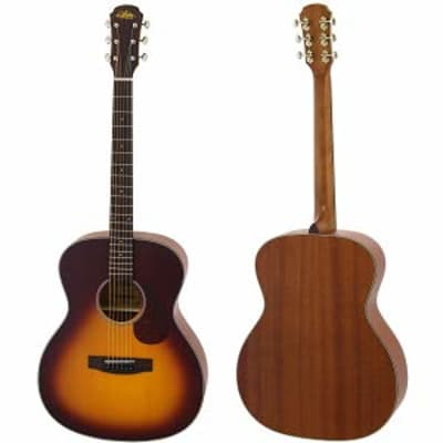Aria ARIA-101-MTTS 100 SERIES Spruce Top Mahogany Neck OM Orchestra 6-String Acoustic Guitar for sale