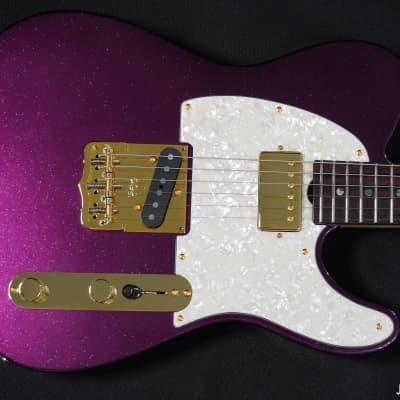 Grosh NOS Vintage T Blue Purple Sparkle for sale