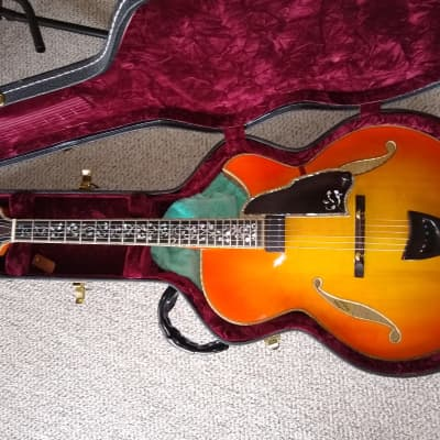 William Gagnon Imperial Cherry Burst Jazz Archtop Guitar w/Case Highly Ornate Custom Build Only One for sale