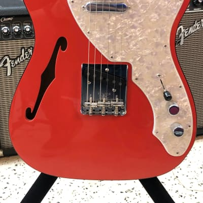 Fender 2 - Tone Telecaster Thinline EBY Fiesta Red 2019 Fiesta Red for sale