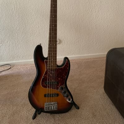 Fender Deluxe Active Jazz Bass V 2007 Sunburst for sale