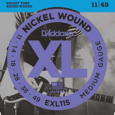 D'Addario XL Nickel Electric Strings - 11-49
