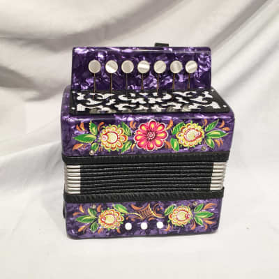 Hand painted Diatonic button accordion in C