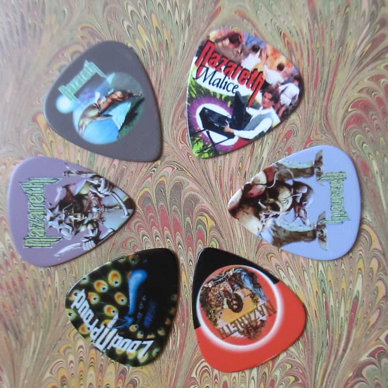 Nazareth (Rock Band) Novelty Guitar Pick 6-Lot Collection