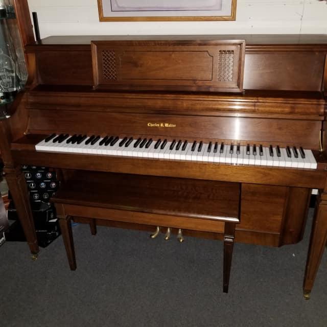Walter Console Piano  Walnut image
