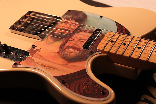 Waylon Jennings & Willie Nelson Custom Pickguard Fender Squier Telecaster  Cover Art