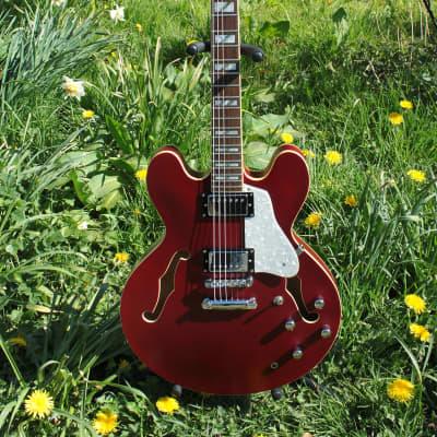 Indie Guitar ~ Custom Semi Hollow Electric . ES335 Style Korean 2011 + Cased for sale