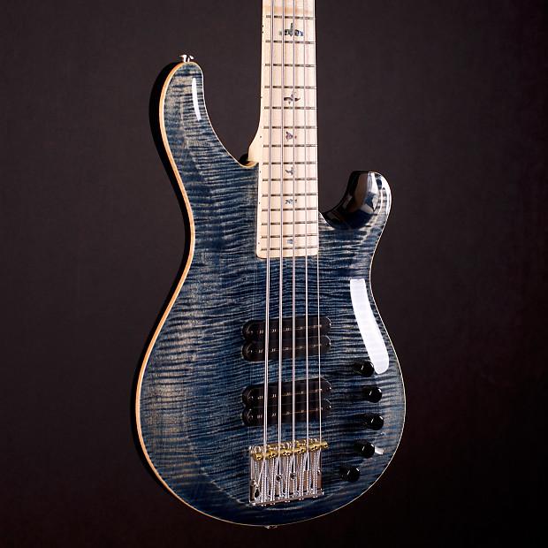prs grainger 5 string bass flame 10 top faded whale blue reverb. Black Bedroom Furniture Sets. Home Design Ideas