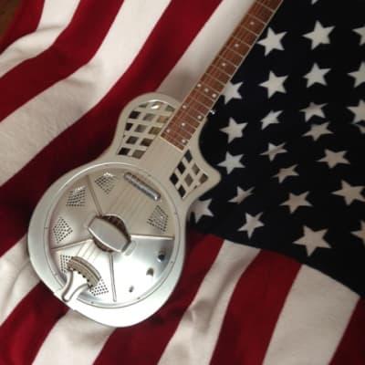 AIERSI guitare résonateur parlor électro 2021 métal brossé for sale