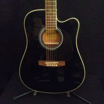 Indiana I-TB2BK Black Thin Body Acoustic/Electric for sale