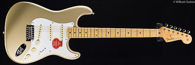 fender classic player 39 50s stratocaster shoreline gold 054 reverb. Black Bedroom Furniture Sets. Home Design Ideas