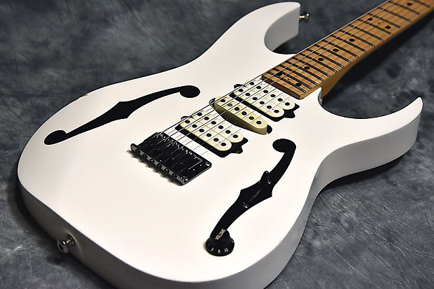 Ibanez Pgm301 Paul Gilbert Signature White Reverb