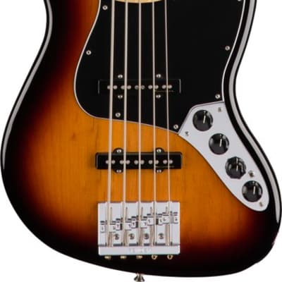 Fender Deluxe Active Jazz Bass V 5 String 3-Color Sunburst w/ Gigbag for sale