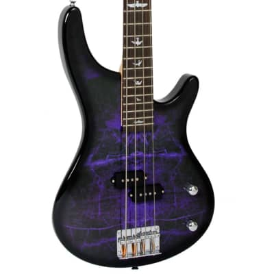 Lindo PDB Purple Dove Electric Bass Guitar With Carry Case and Cable for sale