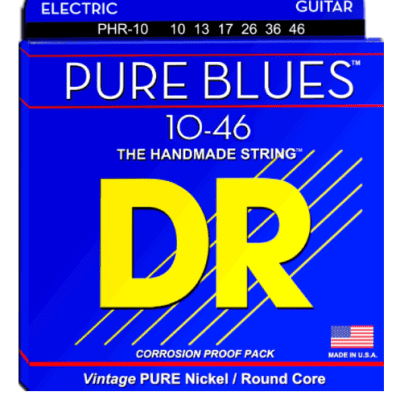 DR Pure Blues Electric Guitar Strings - 10-46