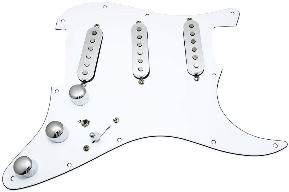 loaded strat pickguard  fender deluxe drive pickups  7