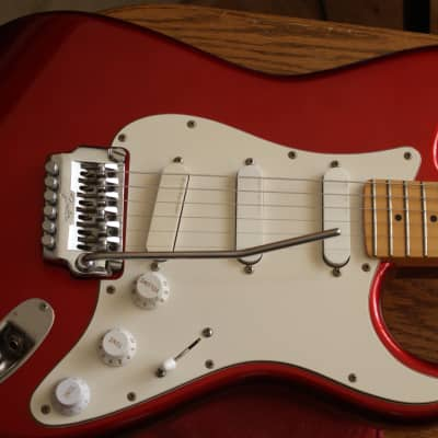 Fender  Contemporary Stratocaster  1986 Candy Apple Red W/ New Zebra Fender HSCase. for sale