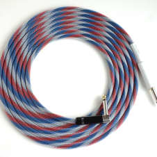 10 ft. Inst. Cable Mogami 2524, Silent & Rt Angle Plugs- Patriot TFlex-NEW