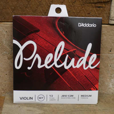 D'Addario - Prelude Violin String Set, 1/2 Scale, Medium Tension