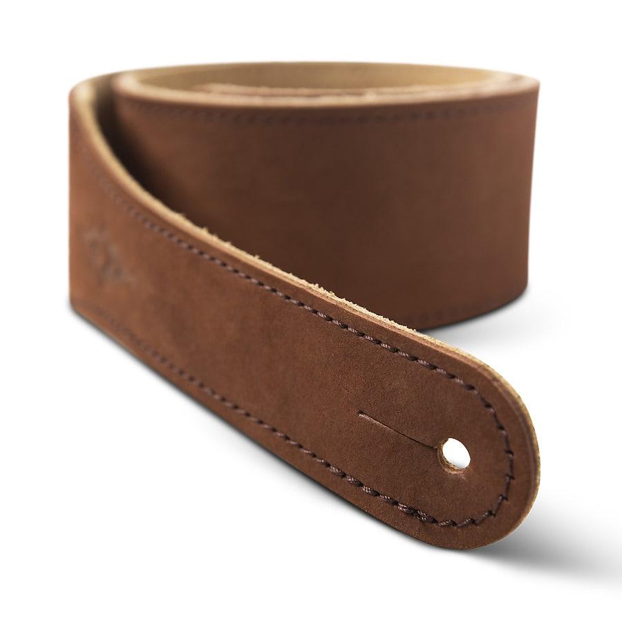 Taylor Gemstone Strap (300 Series), Medium Brown Sanded Suede, 2.5