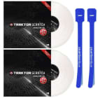 Native Instruments Traktor Scratch Control Vinyl MK2 Pair (White) w/ Cable Ties image