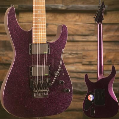ESP LTD KH-602 Kirk Hammett Signature Series Electric Guitar Purple Sparkle image