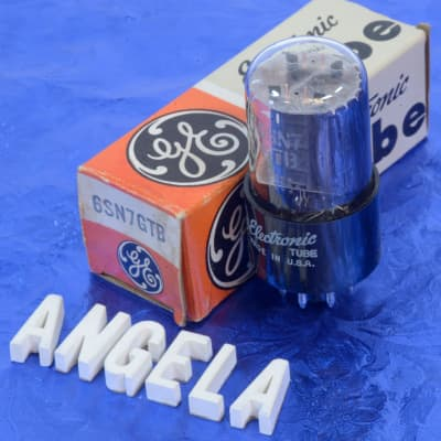 General Electric Electron Tubes For Audio 6SN7GTB General Electric Electron Tube For Audio '70s Black Base for sale