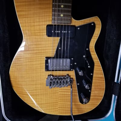 Reverend Double Agent W with Rosewood Fretboard 2010s Natural Flame Maple w/HSC for sale