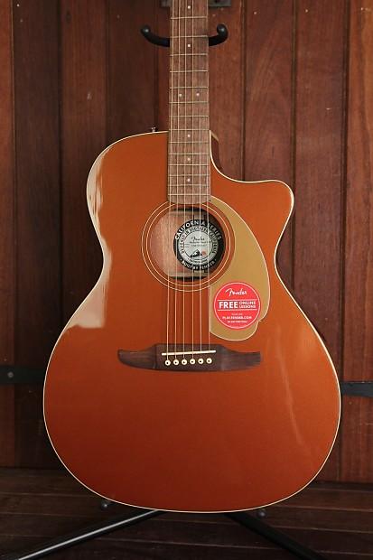 Fender California Player Newporter Acoustic Guitar Rustic Copper