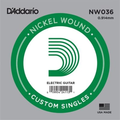 D'Addario NW036 Nickel Wound Electric Guitar String
