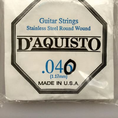 D'Aquisto Micro Flex Strings .040 Stainless Steel Round Wound for sale