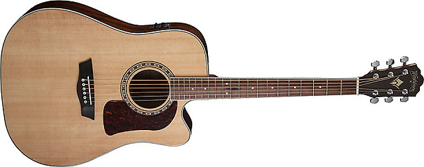 washburn hd10sce electric acoustic guitar natural gloss solid reverb. Black Bedroom Furniture Sets. Home Design Ideas