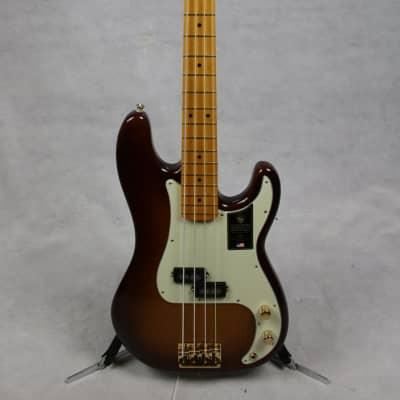 Fender 75th Anniversary Commemorative Precision Bass, Maple Fingerboard, 2-Color Bourbon Burst