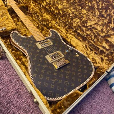 2004 Fender Louis Vuitton Stratocaster One of a Kind Post Malone Telecaster sibling guitar for sale