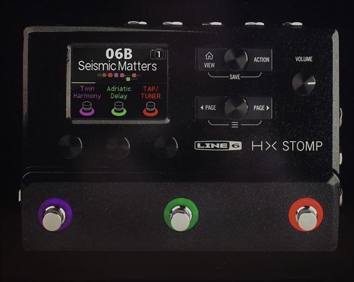 line 6 hx stomp multi effect modeling guitar bass effect reverb. Black Bedroom Furniture Sets. Home Design Ideas