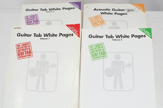 Guitar Tab White Pages 4 Volume Set -Good Condition