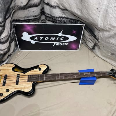 Italia Imola Chambered Semi-Hollow Body 4-String Bass with Case for sale