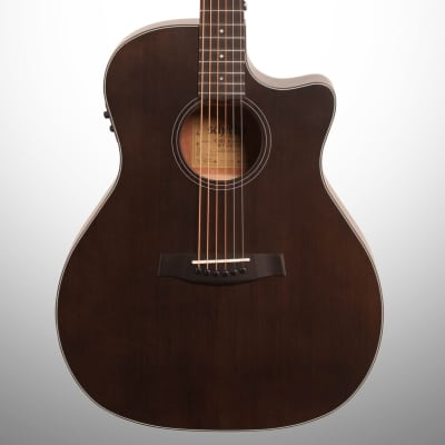 Schecter Orleans Studio Acoustic-Electric Guitar, Satin See Thru Black for sale